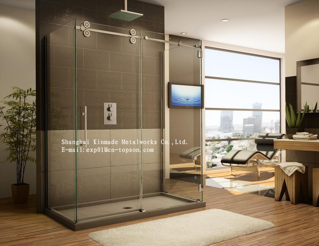 Tempered Glass Frameless Sliding Glass Shower Door Hardware Buy Sliding Glass Shower Door Hardware Frameless Glass Sliding Bath Shower
