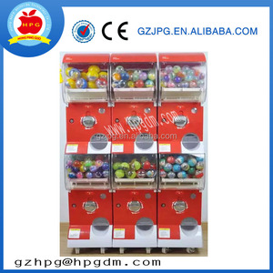 factory coin operated gumball candy toy gift capsule vending machine for game center