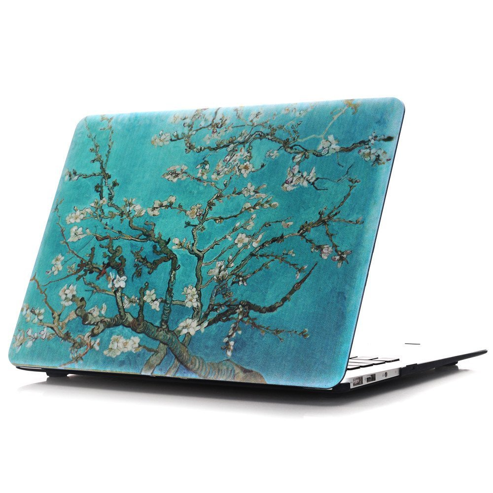 """Mac Retina 13 Inch Case,IVY [Apricot Blossom Tree] Hard Case Cover For Macbook Pro 13.3"""" with Retina display NO CD-ROM (A1425/A1502) With Keyboard Skin"""