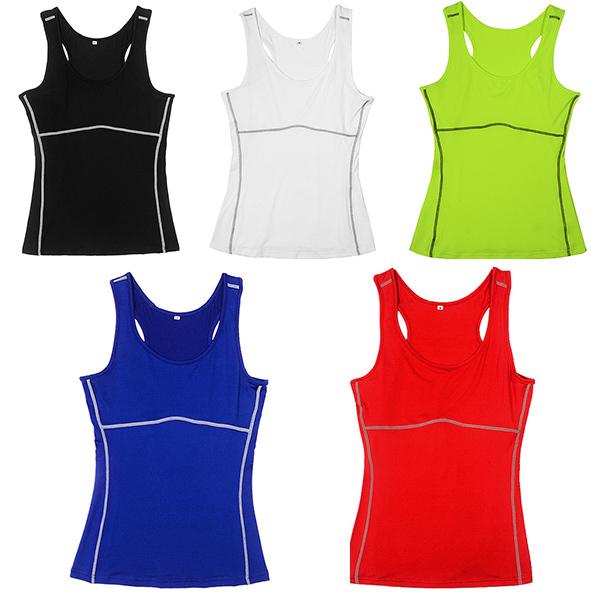 80f5fc81 2019 Wholesale Women Gym Sports Vest Running Top Girl Stretch ...