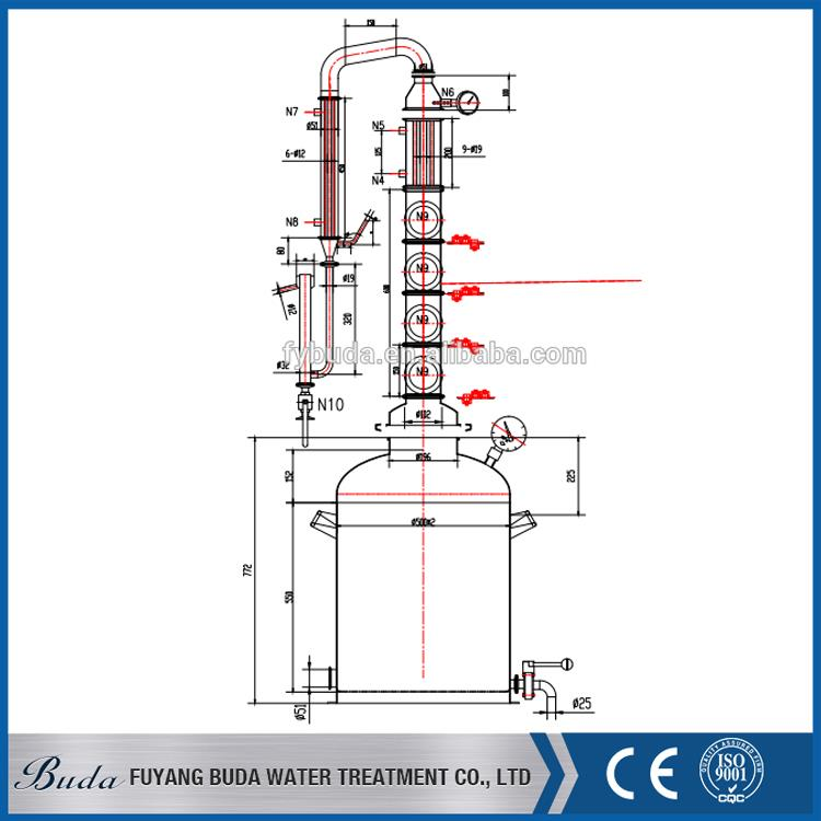 Fuyang buda wine making distiller/ ethanol distillation project/ distilled spirit equipment