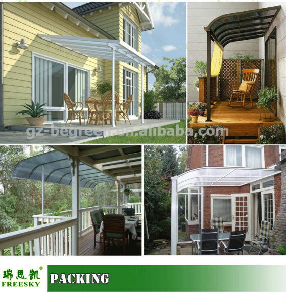 Cutsomized Waterproof Balcony Patio Covers,Metal Patio Cover Shade, Pergola Patio  Covers