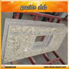 rustic yellow granite countertop with ceramic sink