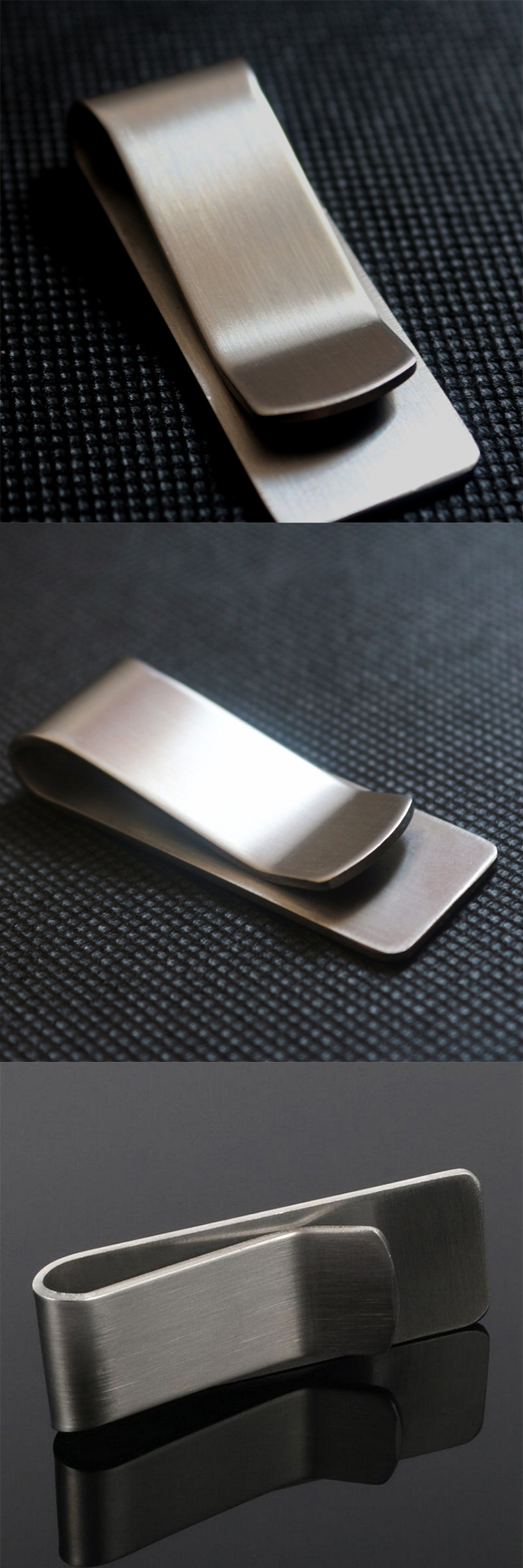 Wholesale unique cheap blank stainless steel money clip