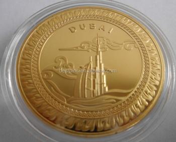 Hotel Dubai Oro Moneda Recuerdo Burj Monedas 24 K