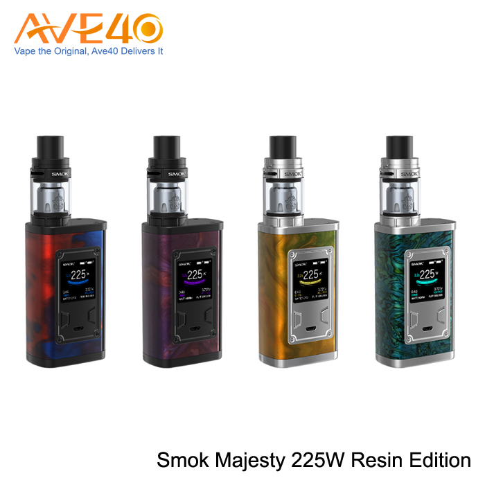 Advanced and Fashionable Smok Majesty Resin Edition 225W kit with an OLED screen