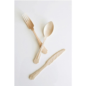 Wooden Disposable Cutlery Knife Fork Spoon with Logo