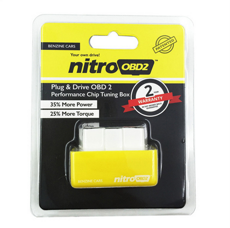 Nitro OBD2 for Benzine gasoline cars Plug Drive function the increasing the performance of engine OBD2 Chip Tuning BOX ECU