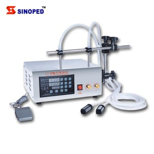 Single or multi Head Semi / automatic small digital control pump liquid filling machine
