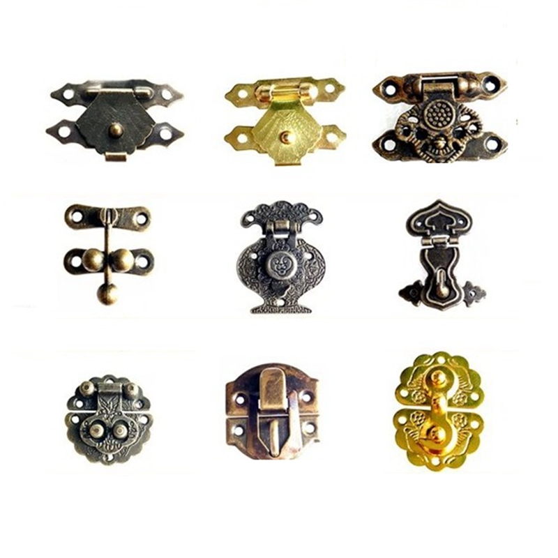 Wooden Packaging Jewellery Box Drawer Cabinet Door Fix  Buckles box clasp Metal Latches Catches