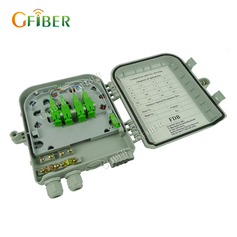 Gfiber GF-D01 FTTH fiber optic 6 and 12 core plastic terminal box