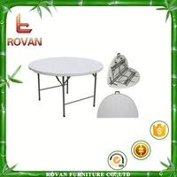 led indoor / outdoor furniture round folding poker table