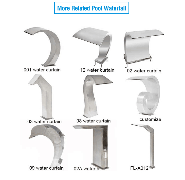 Decorative Indoor Or Outdoor Artificial Stainless Steel Water Feature Wall Fountain Outdoor Wall Decor Pool