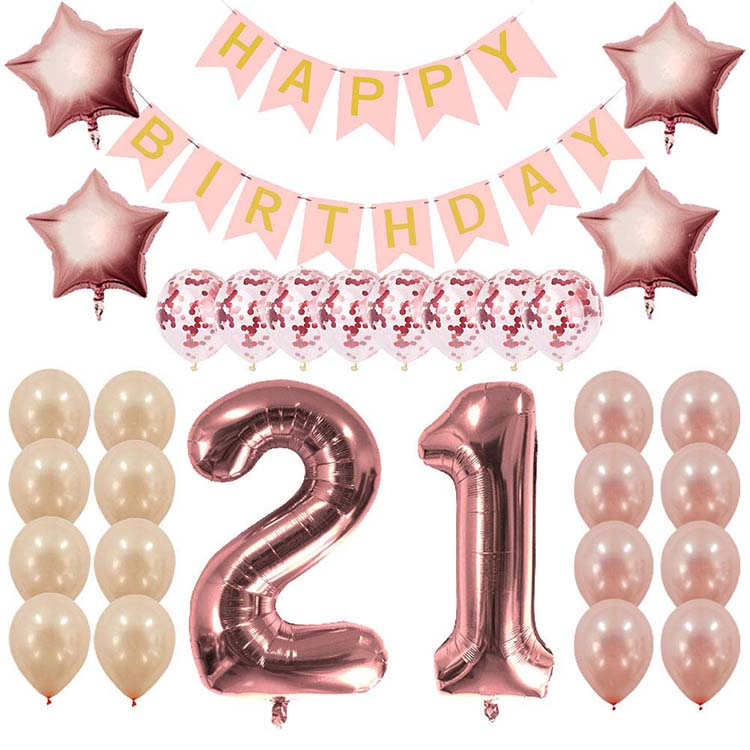 Rose Gold 21st Birthday Decorations Party Supplies Gifts For Her Create Unique Events With Happy