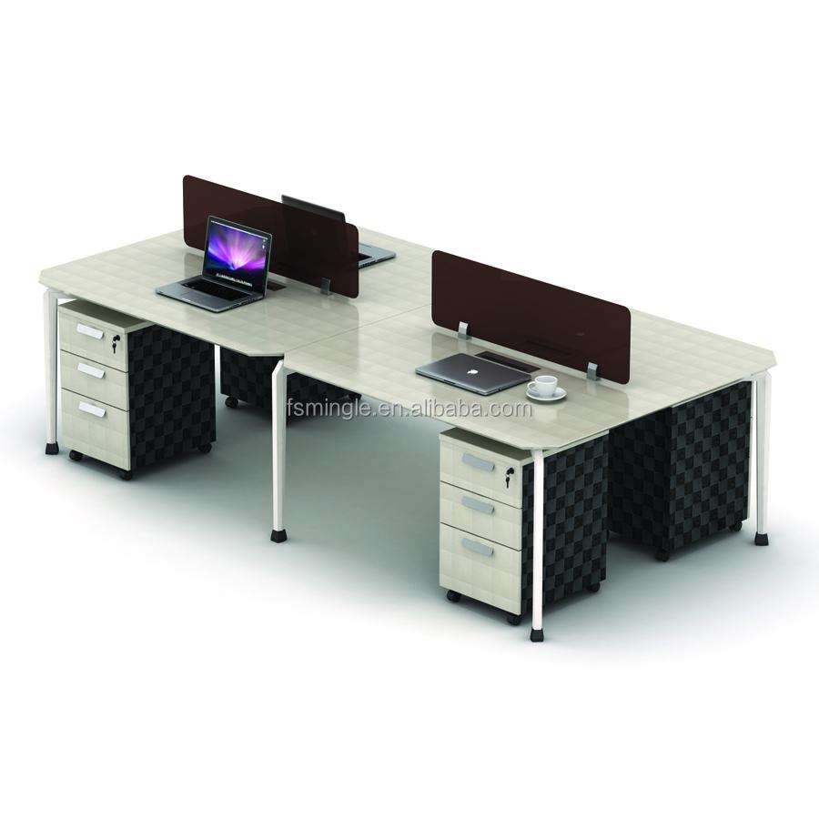 - Modern Office Furniture Workstation Computer Desk 4 Seat