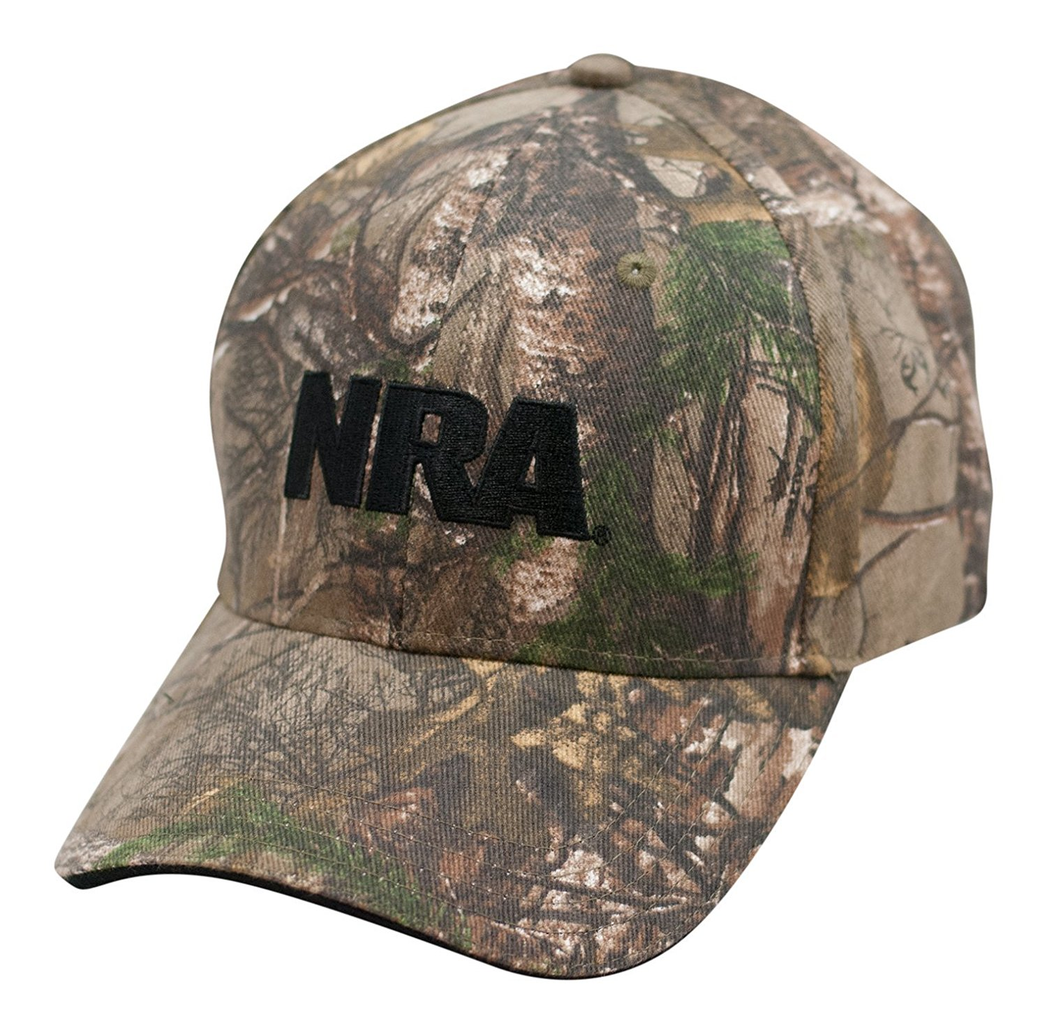 87b51c423fa Get Quotations · NRA Logo Camo Cap - Officially Licensed