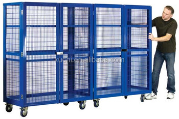 Mobile Storage Cage With Wheels