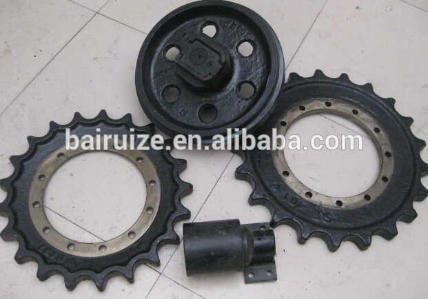Hyundai R60 undercarriage parts,R60-7,R55,R55-7 front idler,top roller,bottom roller,sprocket,track link