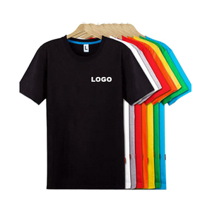 Wholesale Custom logo Tshirt Men Basic Plain 100% Cotton Short Sleeve O Neck Blank printing LOGO T-Shirt