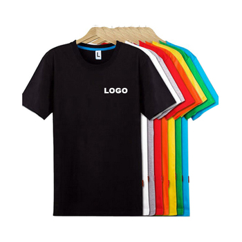 4da9363e3b7 Wholesale Custom logo Tshirt Men Basic Plain 100% Cotton Short Sleeve O  Neck Blank printing