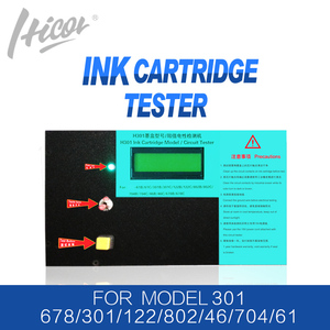 Hicor brand 301 Tester machine for 662 301 122 802 61 704 46 650 678 ink cartridge tester for HP