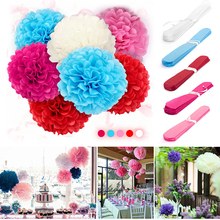 Wholesales 10pcs/bag 8'' 10'' Tissue Paper Pompoms Pom Poms Flower Balls Wedding Party Outdoor/Indoor Decorations