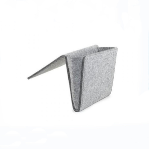 China promotion grey bedroom storage felt bedside storage