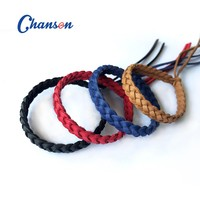 100% Citronella oil Mosquito Repellent Knitted Leather Bracelet