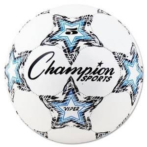 CHAMPION SPORT VIPER5 VIPER Soccer Ball, Size 5, White