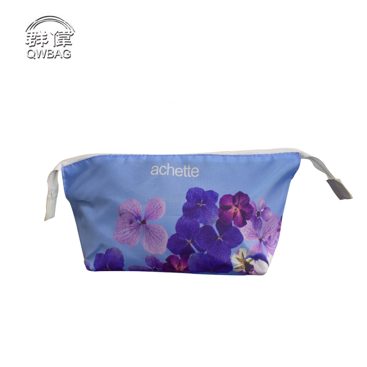 custom polyester sublimation transfer print students pencil case with zipper