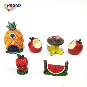 New product ideas 2018 cute decorative resin souvenir gifts cactus fruits miniature garden for craft decor