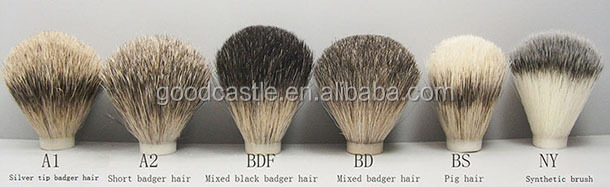 shaving brush black acrylic handle nylon hair