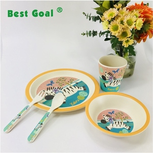 Kids dinner set wholesale bamboo tableware