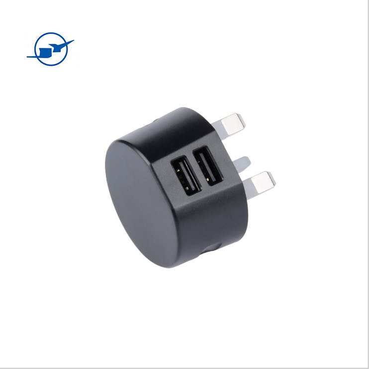 fast travel universal dual port multiple wall usb charging android pocket charger for mobile phone with 3 pin plug socket