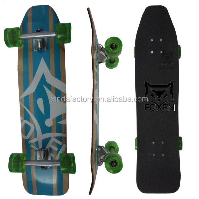 foxen Sport Self Propelled Swing Surfing Skateboard,custom wood mini skateboard