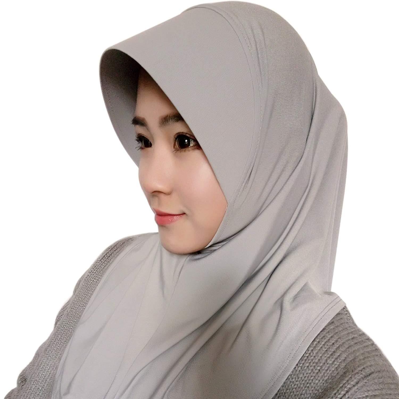 f15293b51ec Get Quotations · Cocohot Muslim Underscarf Cap Inner Hat Hijab Scarf Full  Cover Headscarf Abaya Arab Islamic Turban Headgear