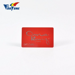 Silver hot stamping special red custom color pvc gift card with hi-co magnetic strip