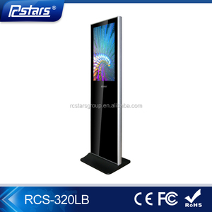 Control remote indoor floor standing lg screen 32 inch tv/digital signage totem with factory price(RCS-320LB)