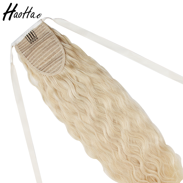 Best selling high quality virgin 5*5 indian remy human hair ponytail,ponytail hair extensions