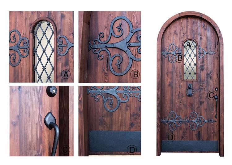 Arco de madera de hierro forjado bodega puerta gabinete for Arcos de madera para puertas