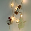 USB Operated Hanging Hemp Rope Coil Copper Pendant Light With 3pcs cinnamon 3pcs pine cone3pcs cherries 2pcs woody snowman pe