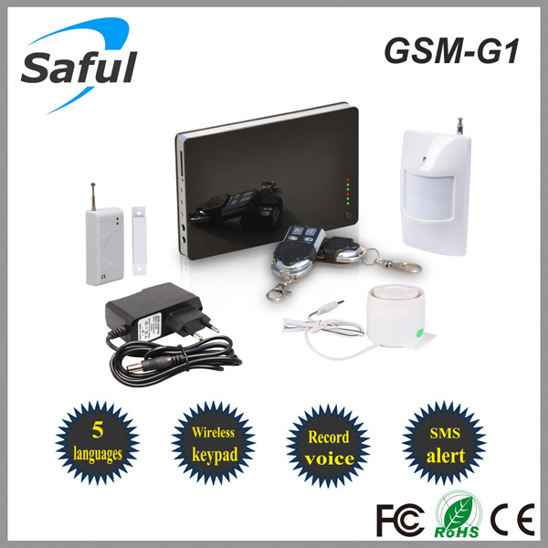 2014 New Wireless Home Security Gsm Sms Home Burglar