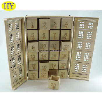 cheap unfinished wood advent calendar wholesale - Wooden Christmas Advent Calendar
