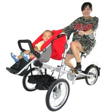 Original manufacture 3 wheel folding baby jogging stroller bicycle for sale