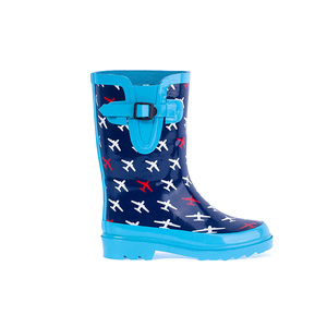 Latest promotion price canada for boys high quality pvc fashion girls rain flower printed cute children wellies boots