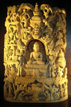Life Of Buddha In Champhore Wood Buy Nepali Handicraft Product On