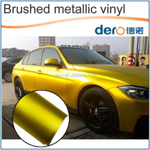 Dero new product 6 Kinds of Color Matte Metallic Brushed for Auto Wrapping Film with Air Free Channels