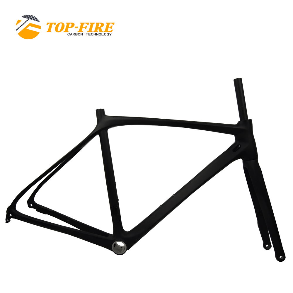 Top fire <strong>carbon</strong> <strong>road</strong> bike <strong>frame</strong> 700C chinese 2018 racing bicycle frameset disc brake axle thru PF30 FM-R868HE