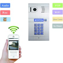 New Wifi Video door phone with remote door access by your iphone,tablet pc or Andriod smartphone,Video Record & Photo Take