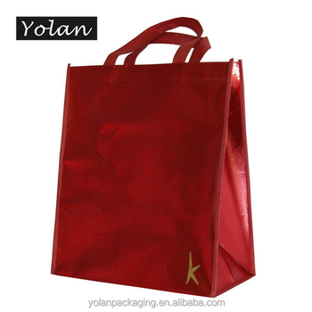 Top quality laminated non woven bag recycle non woven bag manufacturer